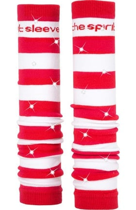 Med Sleeve Women's Red and White Stripes with Bling