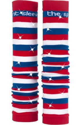 Med Sleeve Women's Red, White, and Blue Stripes with Bling