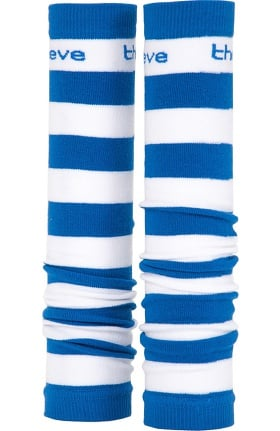 Med Sleeve Women's Royal and White Stripes