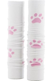 Med Sleeve Women's White with Pink Paw