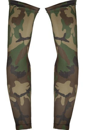 Med Sleeve Women's Woodland Camo Green