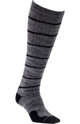Clearance Pro Compression Unisex Marathon Graduated 20-30 mmHg Heather Grey Swirl Print Compression Sock