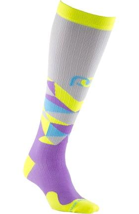 Pro Compression Unisex Marathon Graduated 20-30 mmHg Kaleidoscope Print Compression Sock