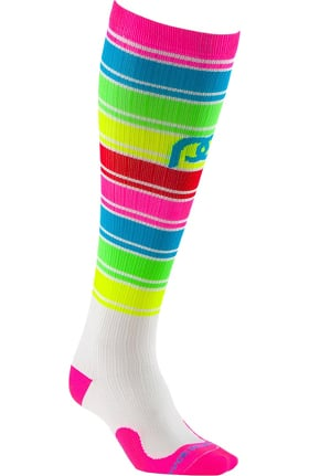 Clearance Pro Compression Unisex Marathon Graduated 20-30 mmHg Neon Candy Print Compression Sock