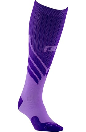 Clearance Pro Compression Unisex Marathon Graduated 20-30 mmHg Purple Wings Print Compression Sock