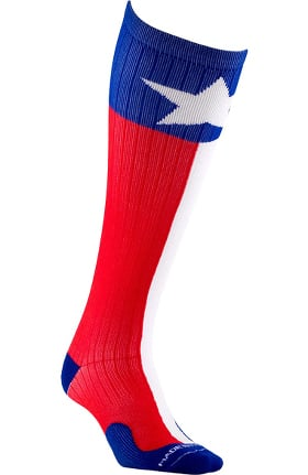 Clearance Pro Compression Unisex Marathon Graduated 20-30 mmHg Texas Print Compression Sock