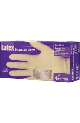 Cypress Powder Free Latex Exam Gloves