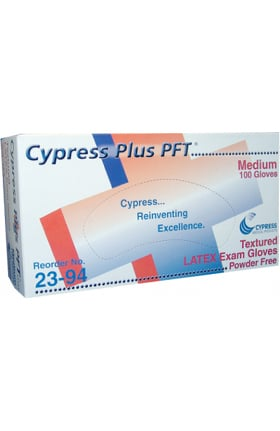 Cypress Medical Latex Textured Exam Gloves