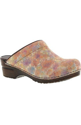 Clearance Original by Sanita Women's Odessa Printed Leather Open Clog