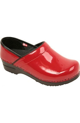 Professional by Sanita Women's Pro Patent Solid Clog