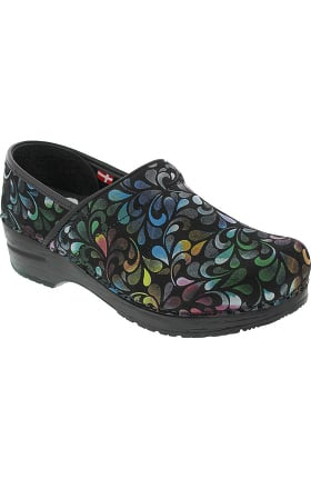 Professional by Sanita Women's Plume Print Clog