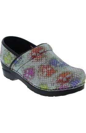 Signature by Sanita Women's Puebla Printed Leather Clog