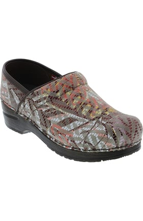 Signature by Sanita Women's Tangle Printed Leather Clog