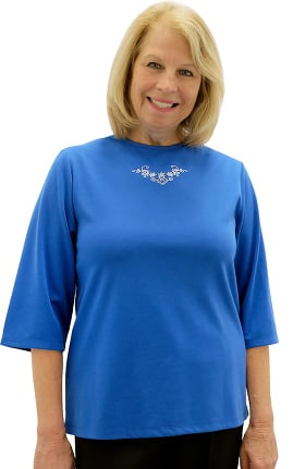 Silvert's Women's Open Back Scoop Neck Solid Top