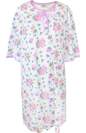 Silvert's Women's Open Back Knit Floral Print Nightgown