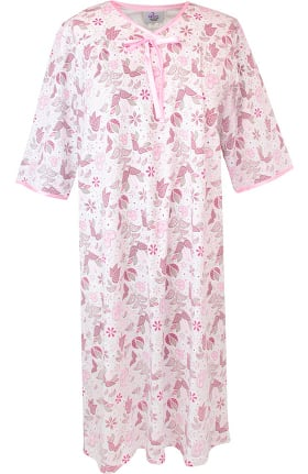 Clearance Silvert's Women's Open Back Knit Floral Print Nightgown