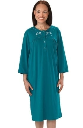 Silvert's Women's Adaptive Quarter Length Henley Patient Gown