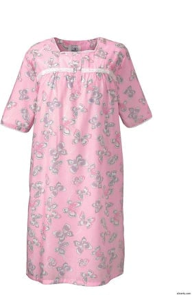 Silvert's Women's Adaptive Lacey Print Patient Gown