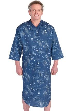 Silvert's Men's Adaptive Geo Print Patient Gown
