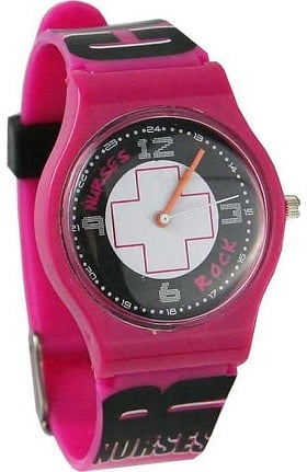 Think Medical Womens Nurses Rock Jelly Watch