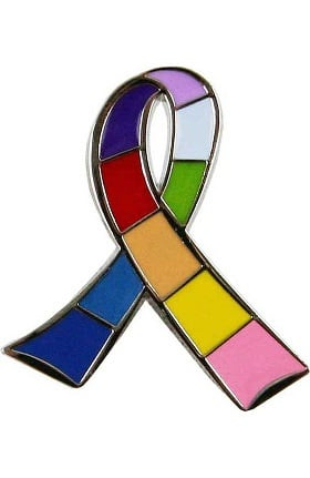 Think Medical Awareness Multi Ribbon Pin