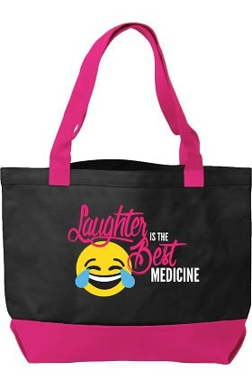 Clearance Think Medical Canvas Laughter Emoji Tote