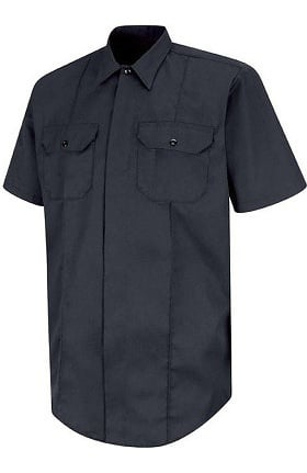 Horace Small Men's Short Sleeve Concealed Button Front EMT Shirt