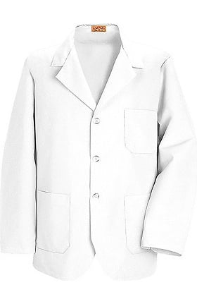 "Clearance Red Kap Men's 3 Button Counter 30¾"" Solid Lab Coat"