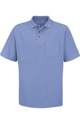 Clearance Red Kap Unisex Short Sleeve Pique Knit with Pocket Polo Shirt