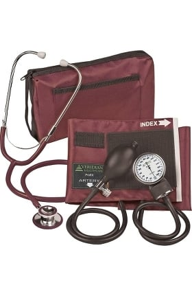Veridian Healthcare ProKit Adjustable Aneroid Sphygmomanometer & Dual Head Sprague Stethoscope K