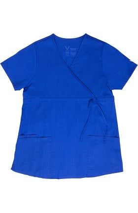Clearance Vestex® Signature Stretch Women's Maternity Comfort Mock Wrap Solid Scrub Top