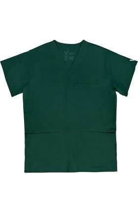 Clearance Vestex® Signature Stretch Unisex V-Neck 3 Pocket Solid Scrub Top
