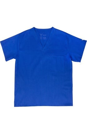 Clearance Vestex® Signature Stretch Unisex V-Neck Solid Scrub Top