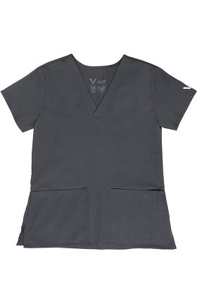 Vestex® Signature Stretch Women's V-Neck 2 Pocket Solid Scrub Top