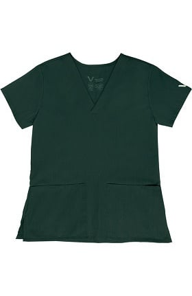 Clearance Vestex® Signature Stretch Women's V-Neck 2 Pocket Solid Scrub Top