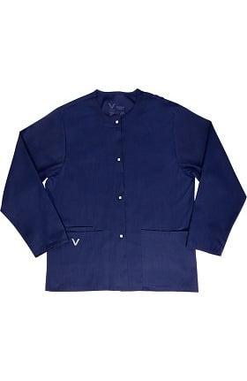 Clearance Vestex® Signature Stretch Unisex Jewel Neck Warm-Up Solid Scrub Jacket