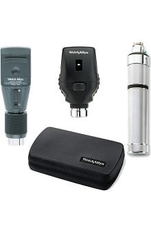 Welch Allyn 3.5V Standard Ophthalmoscope, Retinoscope, Rechargeable Handle & Hard Case 18310