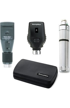 Welch Allyn 3.5V Standard Ophthalmoscope, Retinoscope, Rechargeable Handle & Hard Case Set 18310