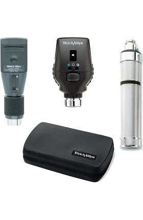 Welch Allyn 18320-C Diagnostic Set with 3.5V Coaxial Ophthalmoscope, Retinoscope, Convertible Handle & Hard Case