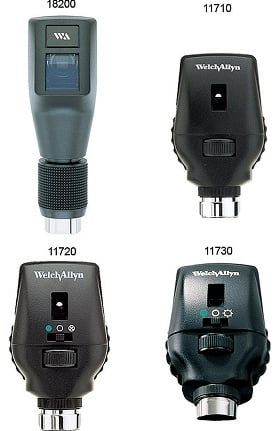 Welch Allyn 18321 Diagnostic Set with Ophthalmoscope, Retinoscope, and Rechargeable Handle