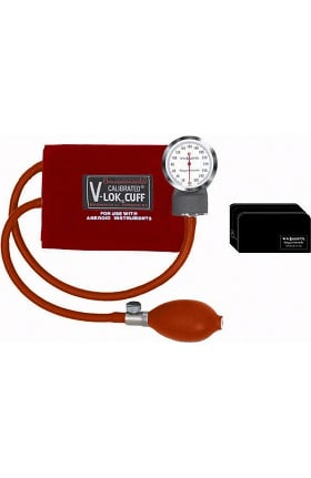 Clearance W.A. Baum Co. Baumanometer Non-Latex Pocket Aneroid with Adult Calibrated V-Lok & Case
