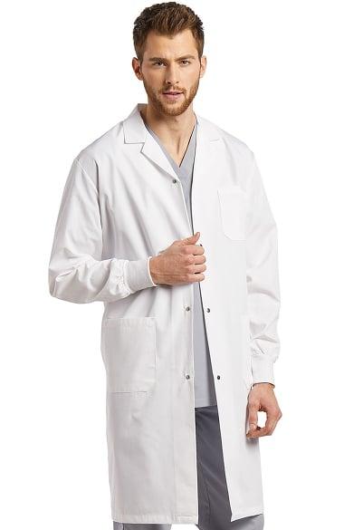 "White Cross Unisex Patch Pocket 42"" Lab Coat | allheart.com"