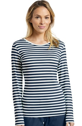 Oasis by White Cross Women's Long Sleeve Striped Underscrub T-Shirt