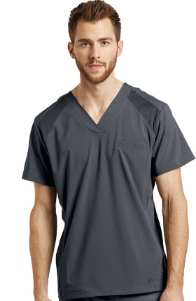Fit by White Cross Men's V-Neck Solid Scrub Top