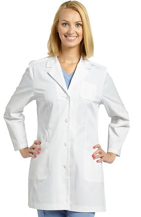 "Allure by White Cross Women's 4 Button 33"" Lab Coat"