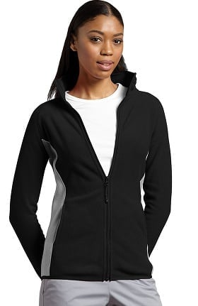 Clearance Allure by White Cross Women's Polar Fleece Zip Front Solid Scrub Jacket