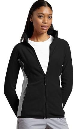 Clearance White Cross Women's Polar Fleece Zip Front Solid Scrub Jacket
