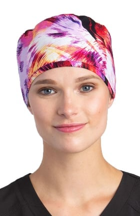 White Cross Women's Leopard Inferno Print Scrub Hat
