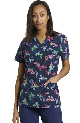 Allure by White Cross Women's Expressions Print Scrub Top