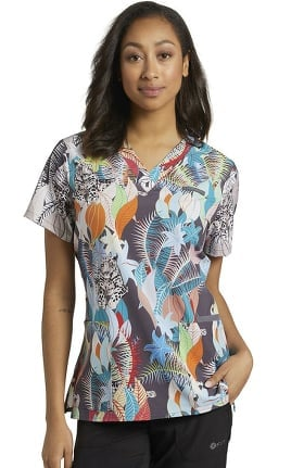 Allure by White Cross Women's Harmony Print Scrub Top